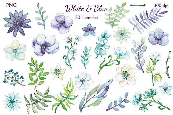 White and Blue - Free Design of The Week Design4
