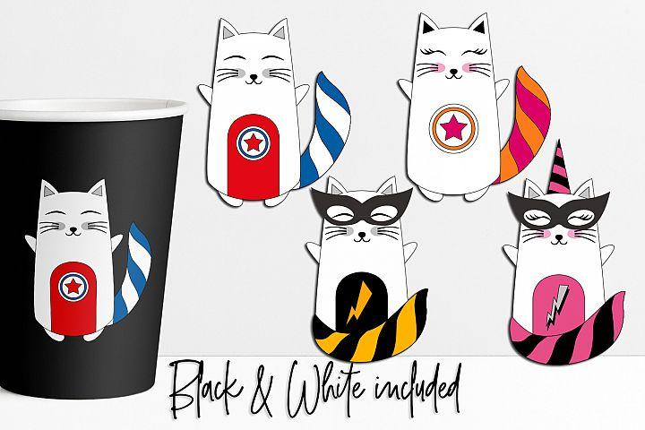 Cat Superhero Graphics