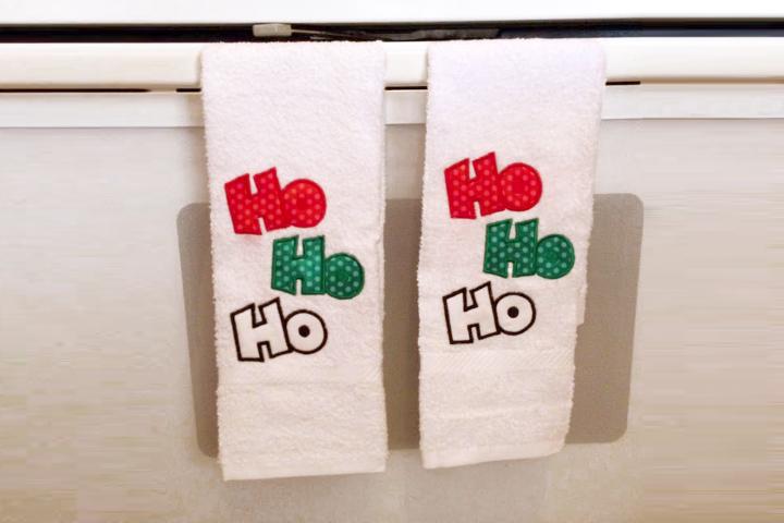 Ho Ho Ho Christmas Applique Embroidery Design