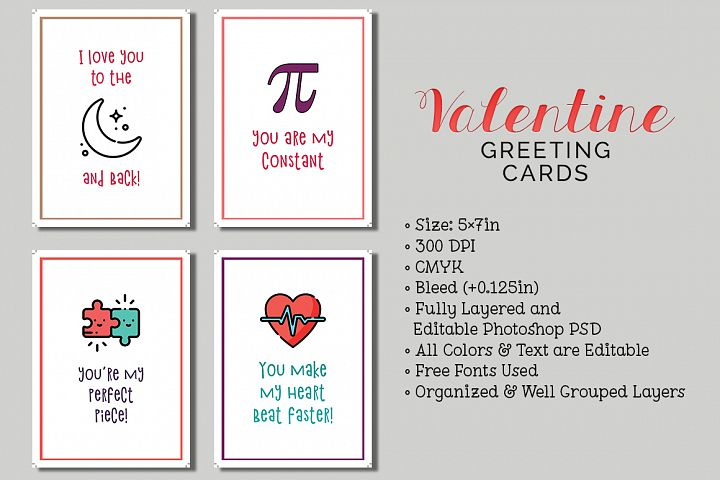 6 Valentines Day Cards