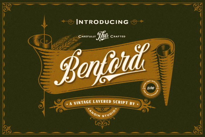 Benford Font Collections with Extras