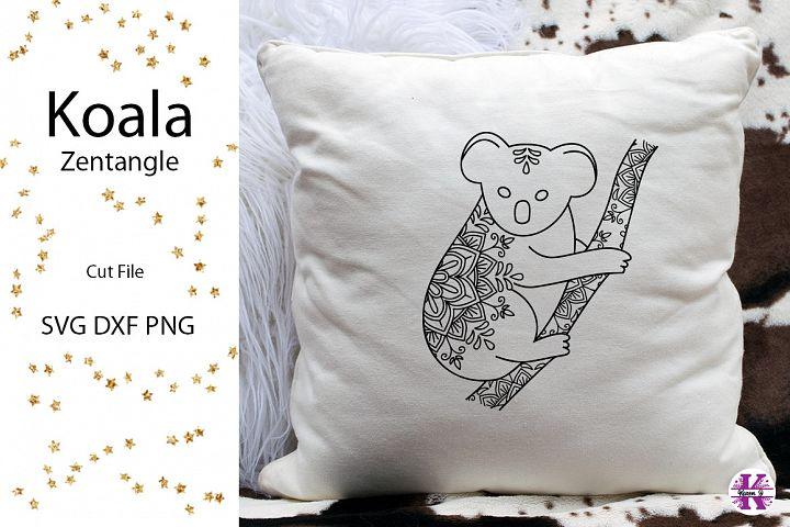 Koala Zentangle SVG DXF PNG Cut File