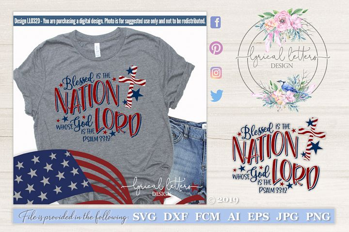 NEW! Blessed is the Nation Psalm 33 Patriotic SVG DXF