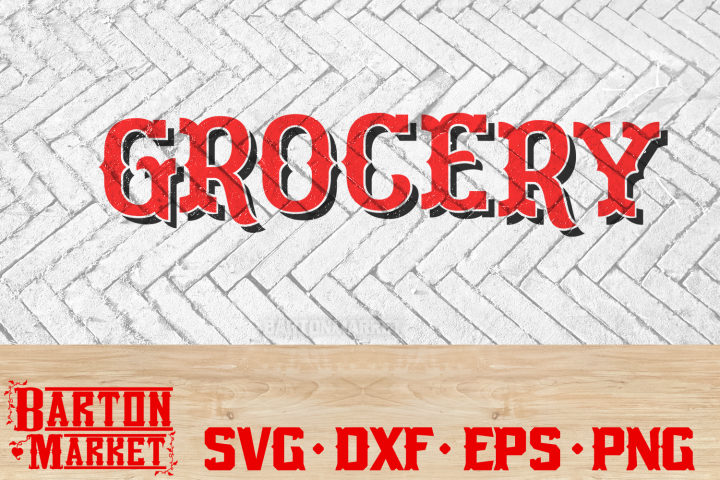 Grocery SVG DXF EPS PNG 1
