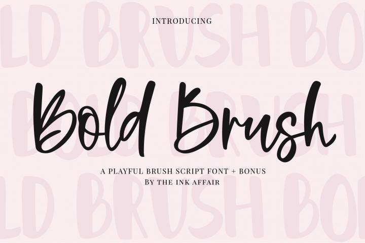 Bold Brush Font  Bonus Font