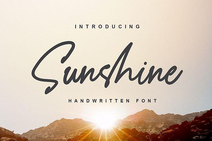Sunshine - a Handwritten Font