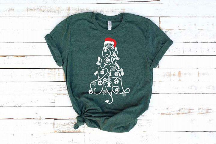 Stethoscope christmas tree SVG Nurse Squad xmas elf 1595s