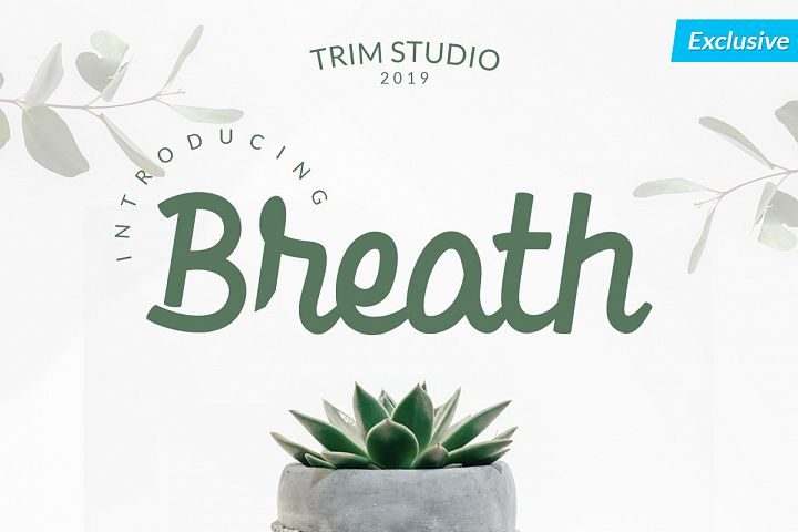 Breath - Beauty in Bold Script