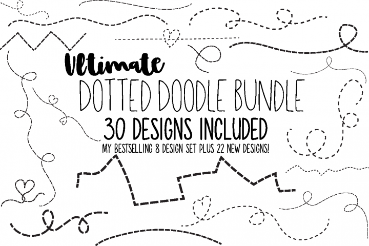 Dotted Line Doodles 30 design set