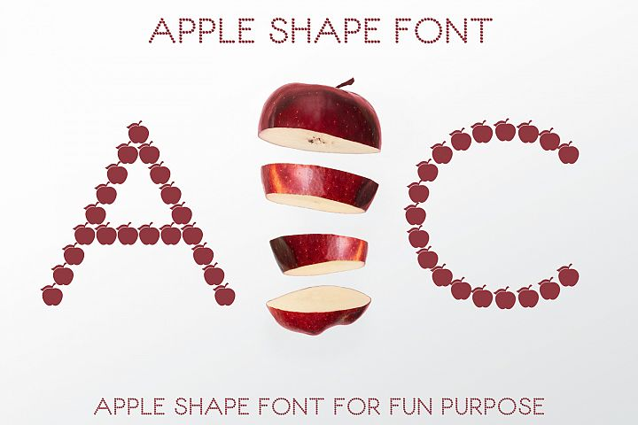 Apple Shape Font