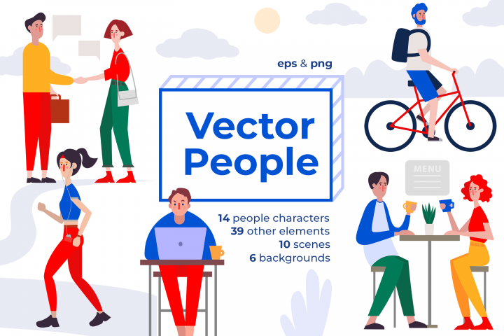 Vector People in daily activity