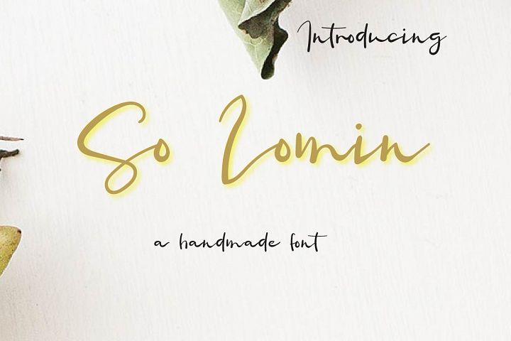 So Lomin Script Font