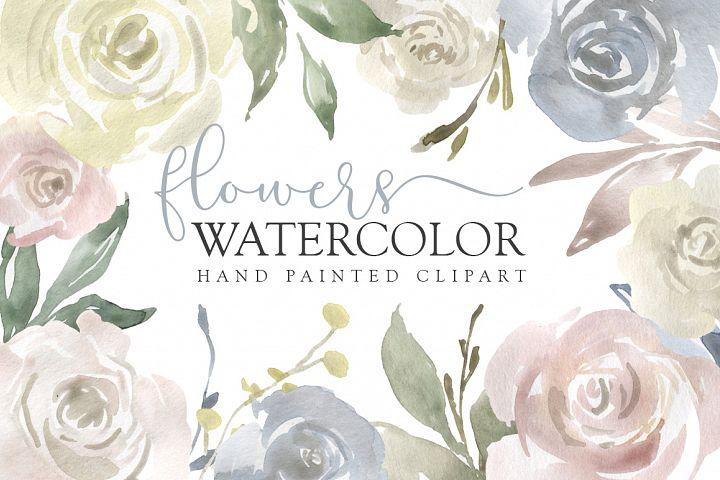 Watercolor Flowers, Bouquets, Frames Light PNG Clipart