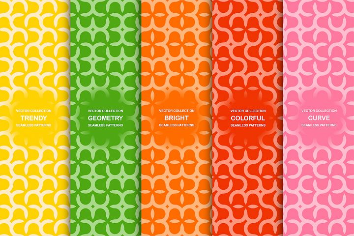 Vector seamless colorful patterns