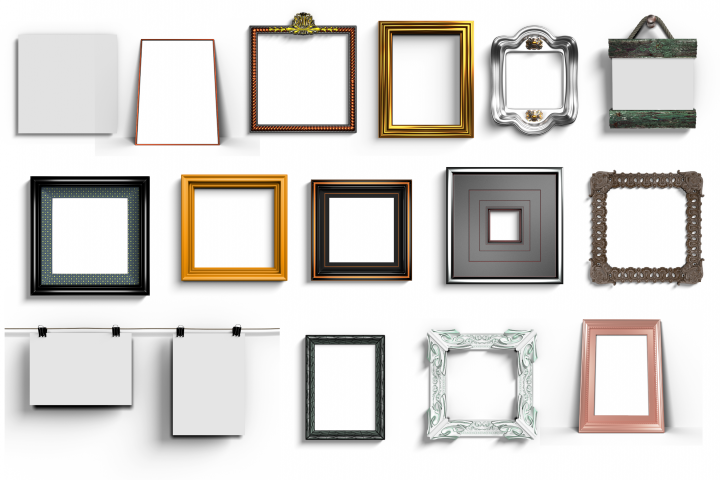 15 digital mock up frames bundle with transparent backdrop