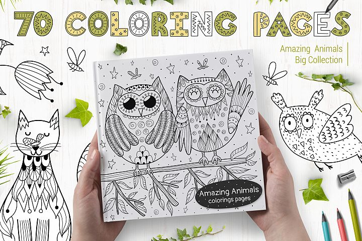 70 Coloring Pages Amazing Animals