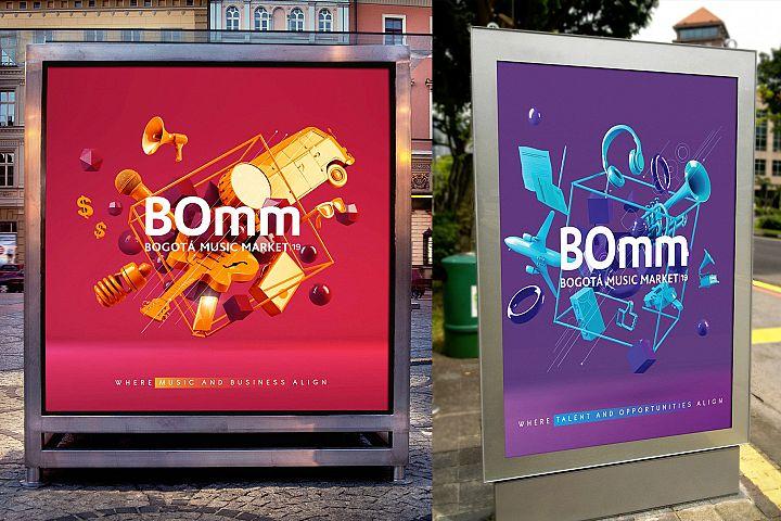 Modern Poster Sign Mockups Templates
