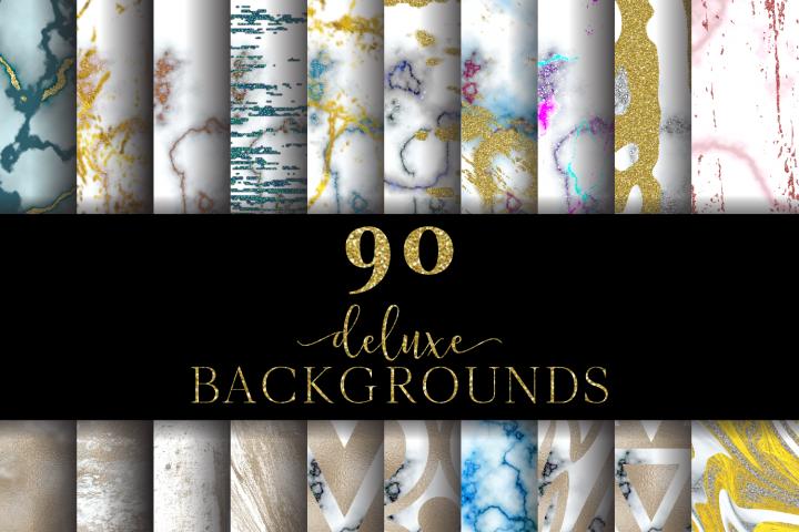 90 Deluxe Backgrounds Digital Paper