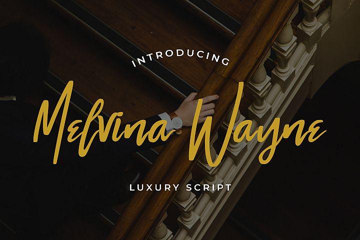 Melvina Wayne - Luxury Script Font
