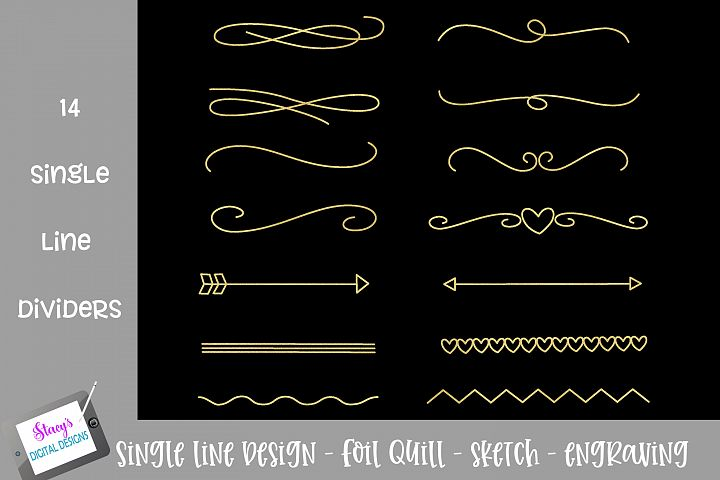 Foil Quill - Single Line Dividers - 14 dividers