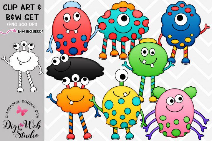 Clip Art / Illustrations - Friendly Monsters