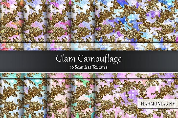 Glam Camouflage 10 Seamless Textures