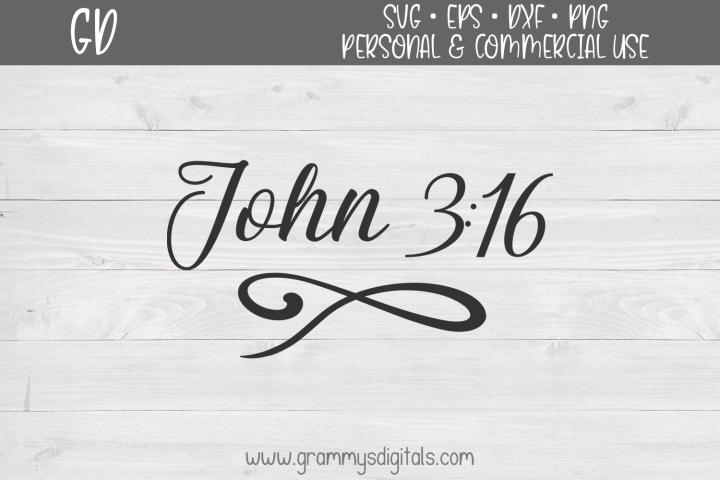 John 3 16 SVG File