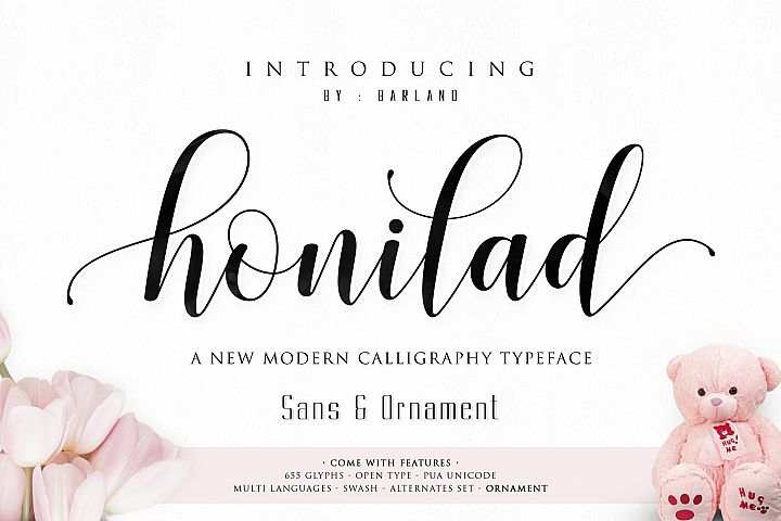 Honilad Script + Sans & Ornament