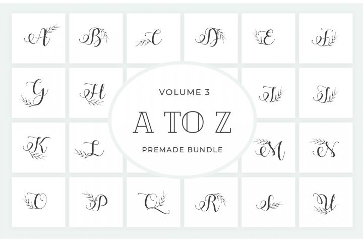 Vol.3 Alphabets Logo Templates
