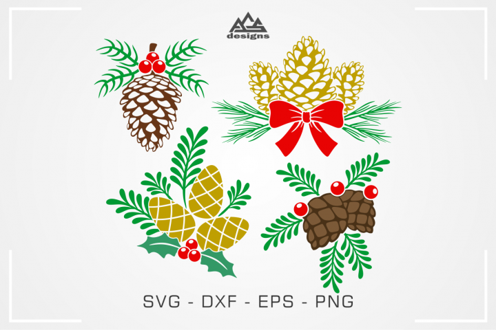 Pine Cone Christmas Svg Design