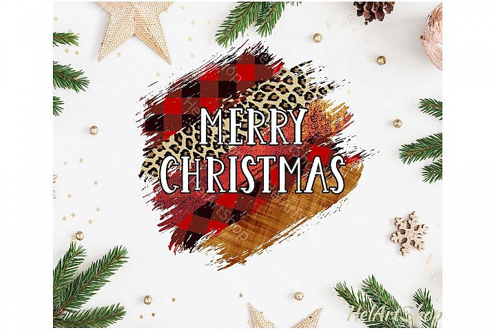Merry Christmas Brush Stroke png, Sublimation design