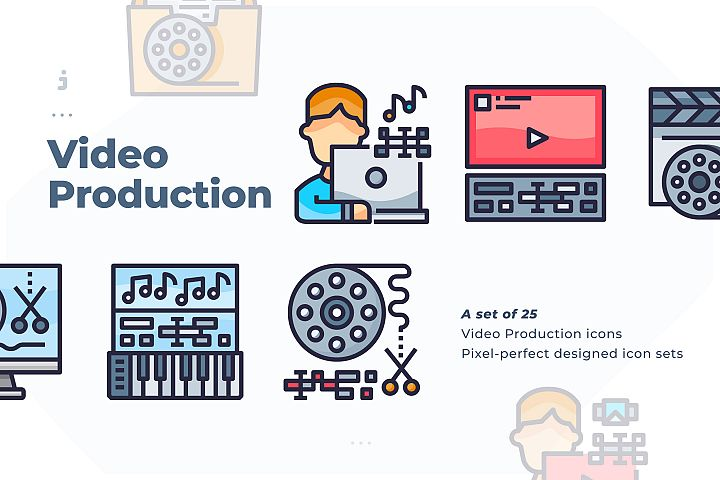 25 Video Production Icon
