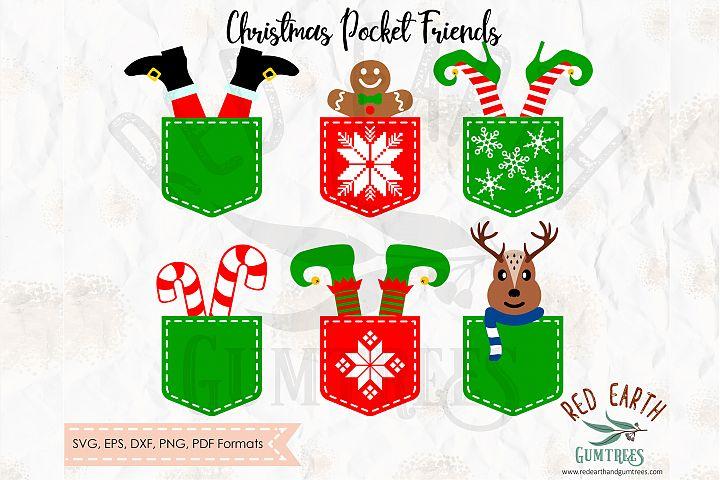 Christmas pocket friends in SVG,DXF,PNG,EPS,PDF formats