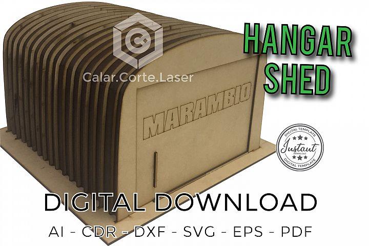 Hangar Shed laser cut model 3d Puzzle plans