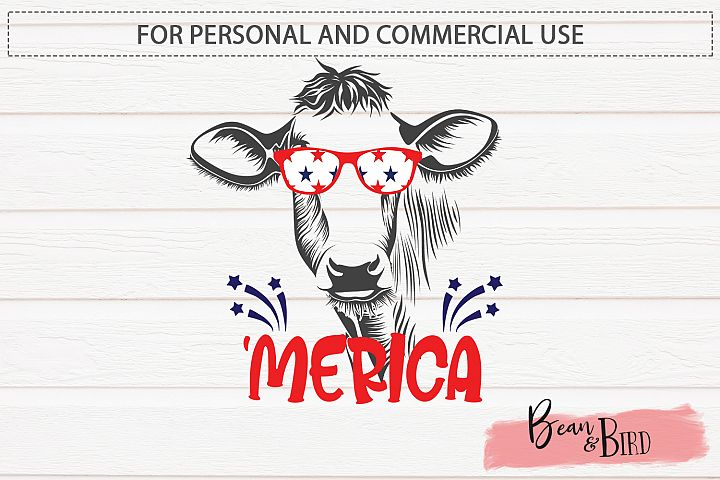Merica Cow Sublimation/Printable