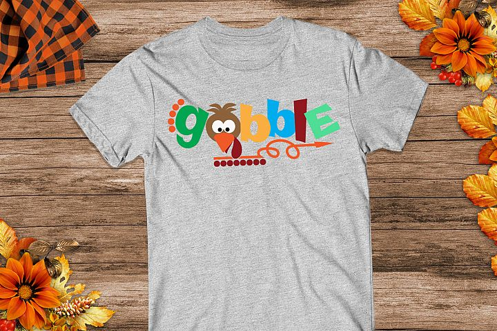 Thanksgiving Gobble Turkey Svg, Turkey Svg, Gobble Svg