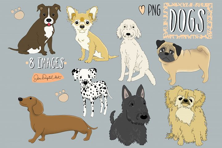 Dogs | 8 images | Clip art illustrations