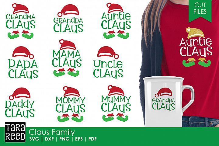 Claus Family - Christmas SVG and Cut Files for Crafters