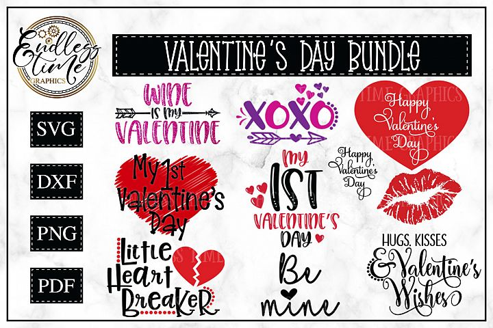 Valentines Day Bundle - 10 Valentine SVG Cut Files