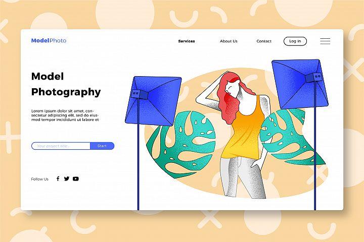 Model - Banner & Landing Page