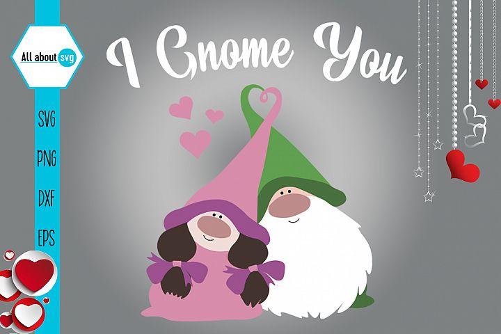 I Gnome You Svg, Valentine's Svg, Gnome In Love Svg example image 3
