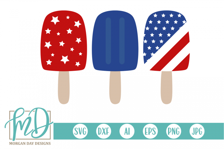4th of July - Patriotic - American - Popsicle SVG