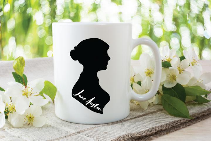 Jane Austen Silhouette Digital Design