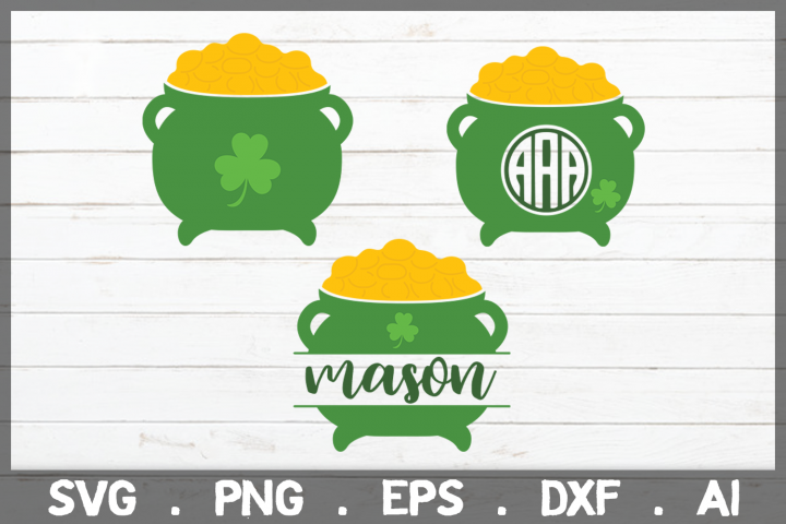SALE! Pot of Gold svg, st patricks day svg, st patricks svg