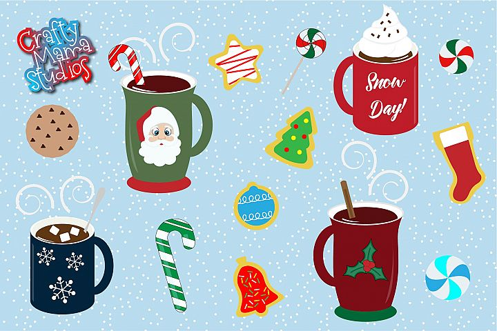 Hot Cocoa Bundle SVG, Sublimation, Cookies SVG, Snow Day
