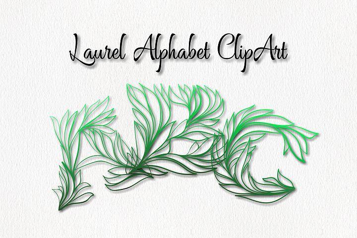 Laurel Alphabet ClipArt