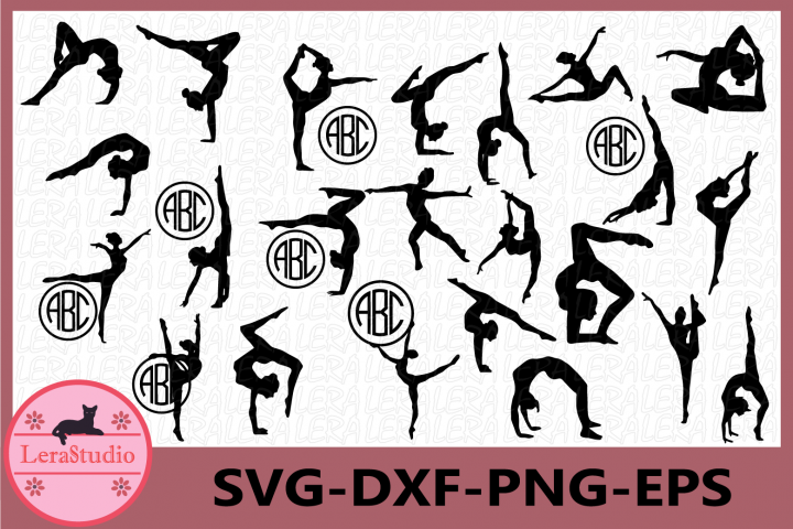 Gymnasts svg, Gymnastic svg, Gymnasts Monogram svg, Gymnasts