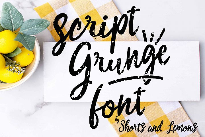 Script Grunge Font with SVG files and OTF