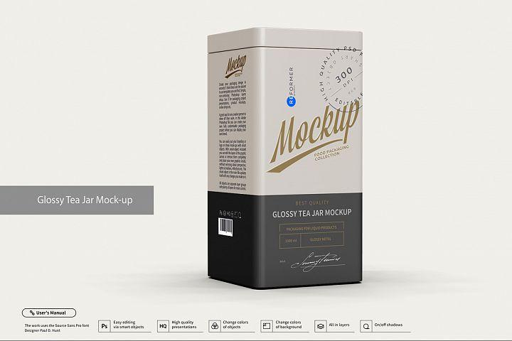 Glossy Tea Jar Mock-up