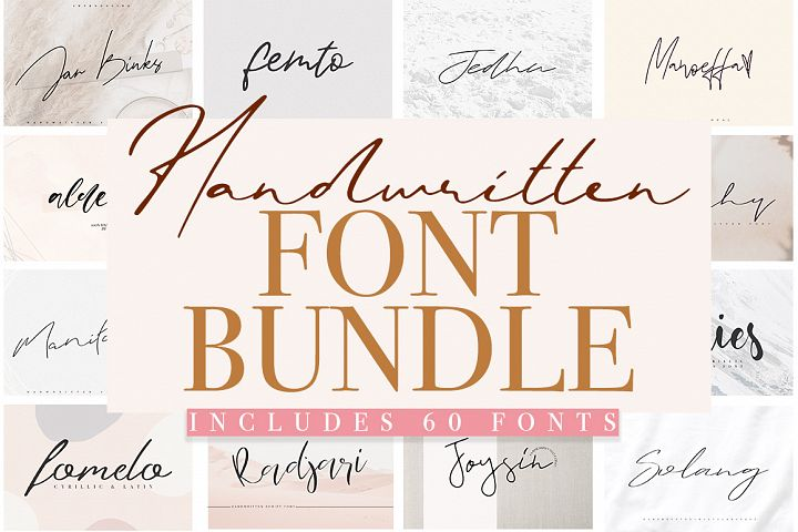 Font Bundle / 60 in One